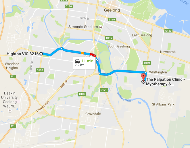 highton-to-the-palpation-clinic-map